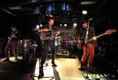 Coldplay wallpaper containing a concert and a guitarist entitled On Stage: BBC Radio 2 [December 6, 2011]