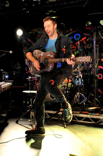 Coldplay wallpaper with a concert and a guitarist entitled On Stage: BBC Radio 2 [December 6, 2011]