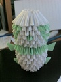 Green Origami Panda - origami fan art