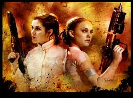 Women of Star Wars images Padme and Leia wallpaper and background photos