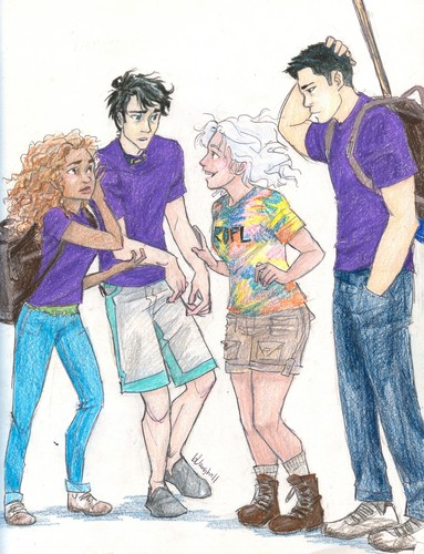 The Heroes of Olympus achtergrond probably with anime entitled Percy Jackson & people