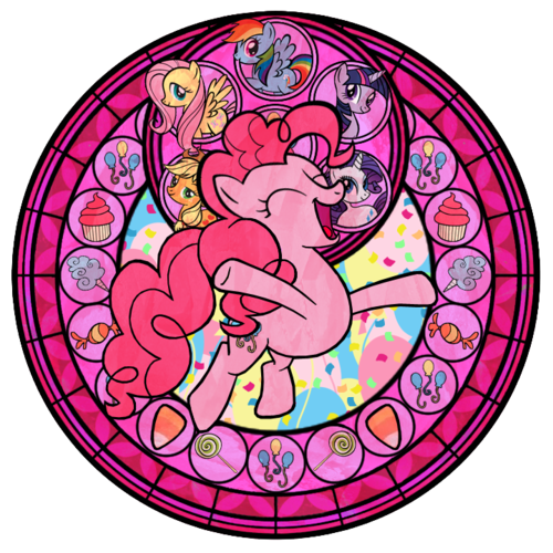 Pinkie Pie stained glass