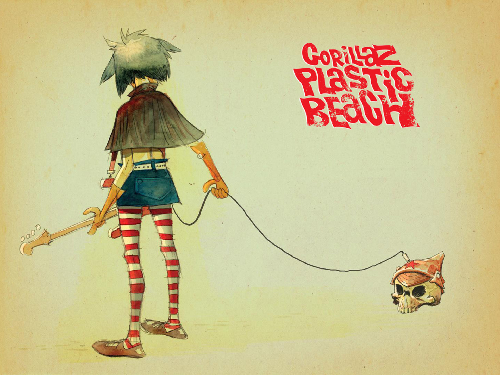 gorillaz wallpapers plastic beach - photo #14