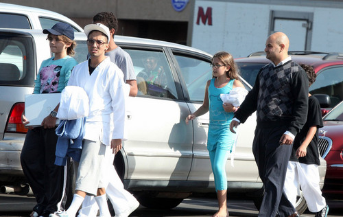 Prince Jackson, Omer Bhatti and Paris Jackson 2009