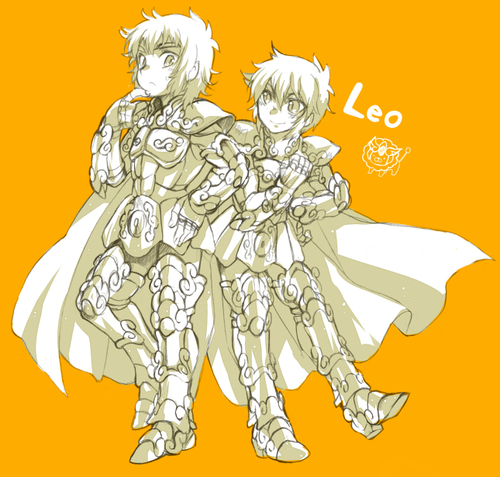 Prince Regulus de Leo and his brother Prince Aiolia de Leo
