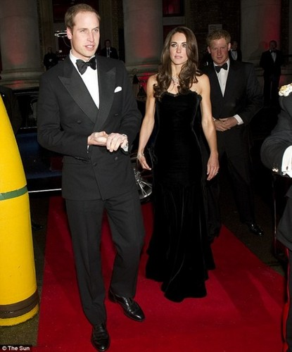 Prince William and Catherine at the Imperial war mueum