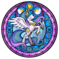 Princess Celestia stained glass