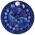 Princess Luna stained glass