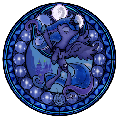My Little Pony Friendship is Magic wallpaper called Princess Luna stained glass