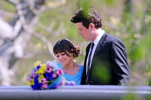ویژن ٹیلی & Movie Couples پیپر وال entitled Rachel and Finn (Glee)