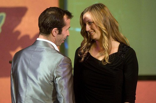 Tennis wallpaper containing a business suit and a well dressed person titled Radek Stepanek and Petra Kvitova sexy