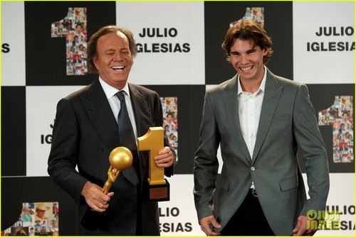 Rafael Nadal Honors Julio Iglesias in Spain