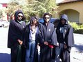 Randy Jackson Jr, Paris Jackson, Donte Jackson And Prince Jackson 2010 on Halloween Day