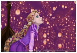 Rapunzel watching the lights