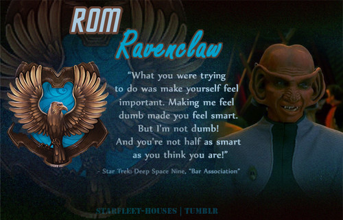 estrella Trek: Deep el espacio Nine fondo de pantalla with a sign entitled Rom - Ravenclaw