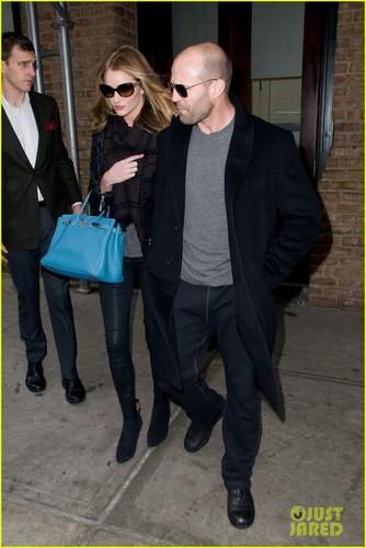 Rosie Huntington-Whiteley & Jason Statham: NYC Stroll! - jason-statham Photo