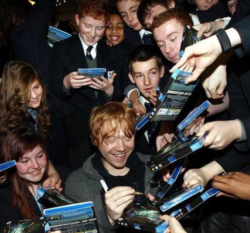 Rupert signing copies of HP!