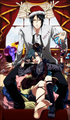 black butler wallpaper probably with a hip boot entitled Sebastian & Ciel