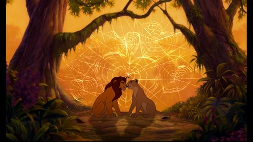 o rei leão wallpaper titled Simba and Nala