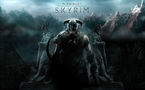 Elder Scrolls V : Skyrim wallpaper probably containing a fountain titled Skyrim Wallpapers