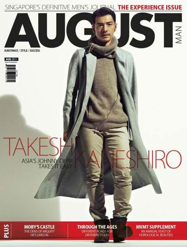 Takeshi Kaneshiro in the August 2011 Singapore's Definitive Men's Journal (THE EXPERIENCE ISSUE).