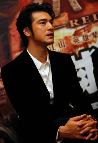 Takeshi Kaneshiro in the Beijing Premiere of the Red Cliff.