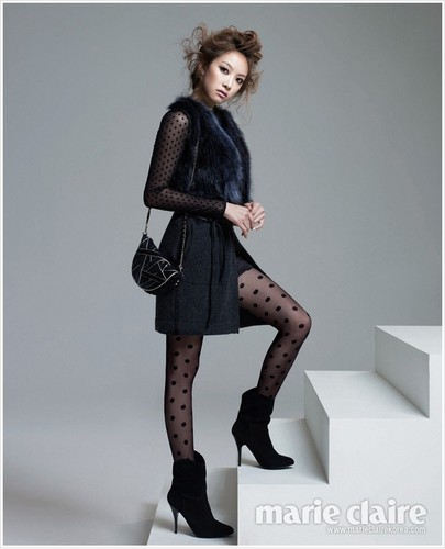 F(x) wallpaper containing hosiery, bare legs, and a hip boot called Victoria for Marie Claire