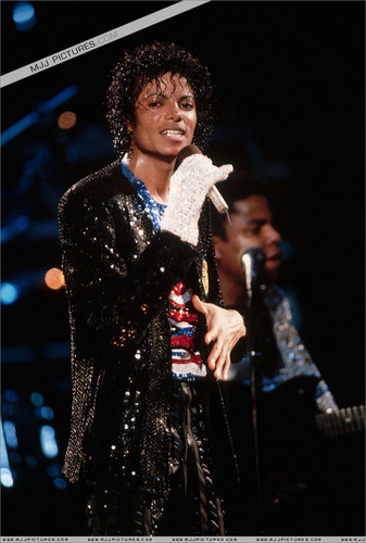 Michael Jackson concerts wallpaper probably containing a concert and a fur coat titled Victory Tour - MJJ