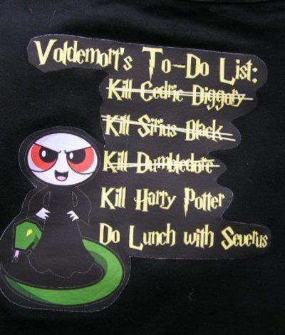 Voldemort's To-Do list