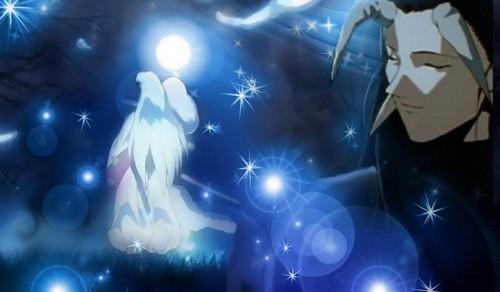 Yomi and Sesshomaru~Moon of Yomi, from my fanficion Saharah