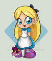 chibi alice - classic-disney fan art