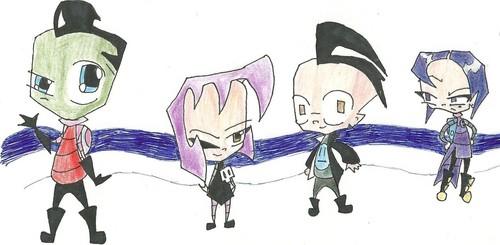 日本漫画 invader zim characters
