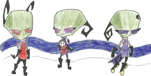 日本漫画 invader zim irken characters