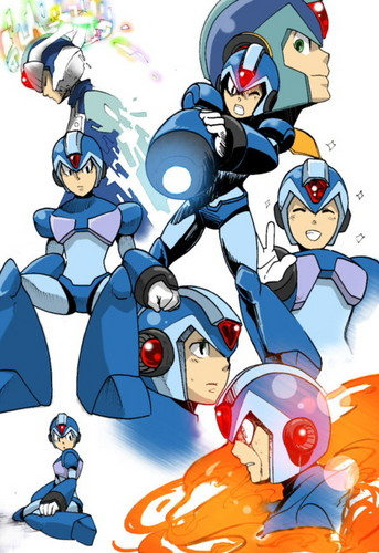 Megaman achtergrond possibly with anime entitled megaman