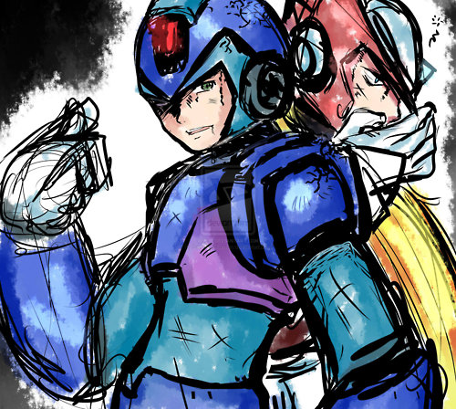 Megaman wallpaper containing Anime entitled megaman