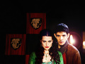 merlin-morgana - morgana and Merlin wallpaper
