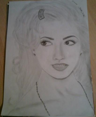 my christina aguilera drawing