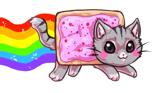 Nyan Cat Hintergrund probably with Anime called nyan cat~<33