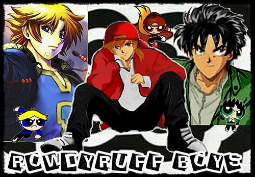 Powerpuff Girls and Rowdyruff Boys fondo de pantalla containing anime titled rowdyruff boys