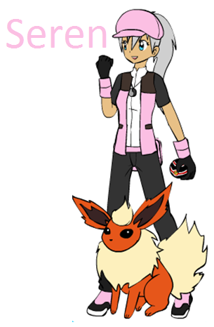 Pokemon trainer rp wallpaper probably containing anime called seren