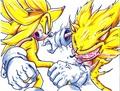 super zero vs evil sonic
