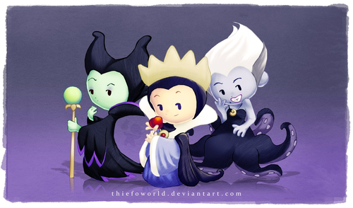 villians and villanenesses - classic-disney Fan Art