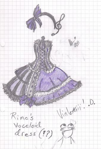 (Sketch Colours) Rima's Vocaloid Dress~?