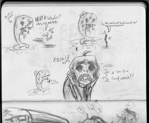 2D & zombie তিমি sketches