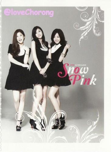 A-PINK Snow merah jambu