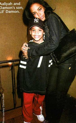 Aaliyah with Damon's son