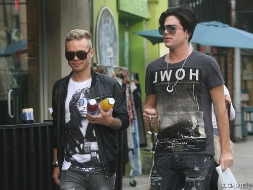 Adam Lambert And Sauli Koskinen In Silverlake, CA
