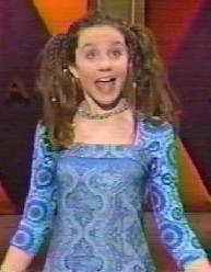Amanda wearing pigtails