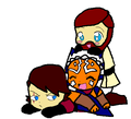 Ani, Obi, and Lil' Soka - clone-wars-anakin-skywalker fan art