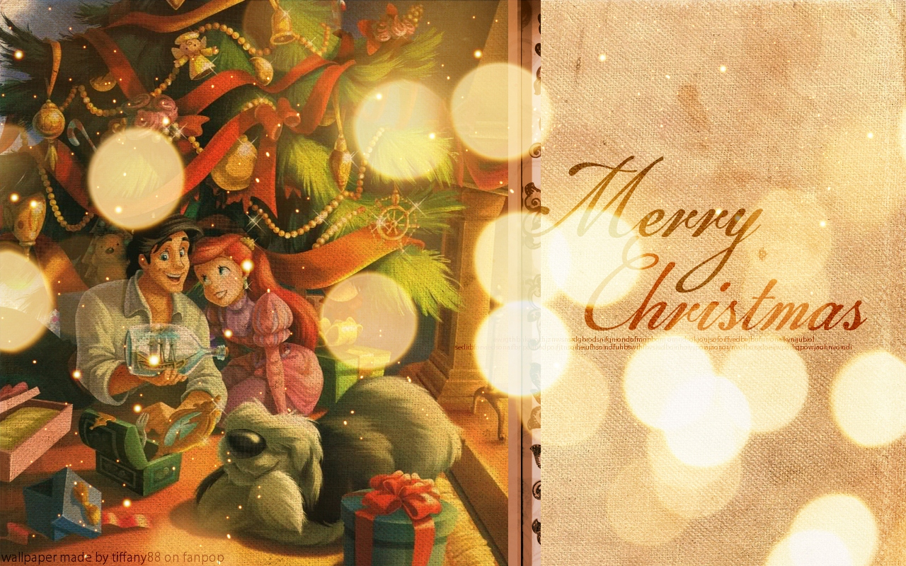 disney christmas images ariel s christmas disney princess hd wallpaper and background photos